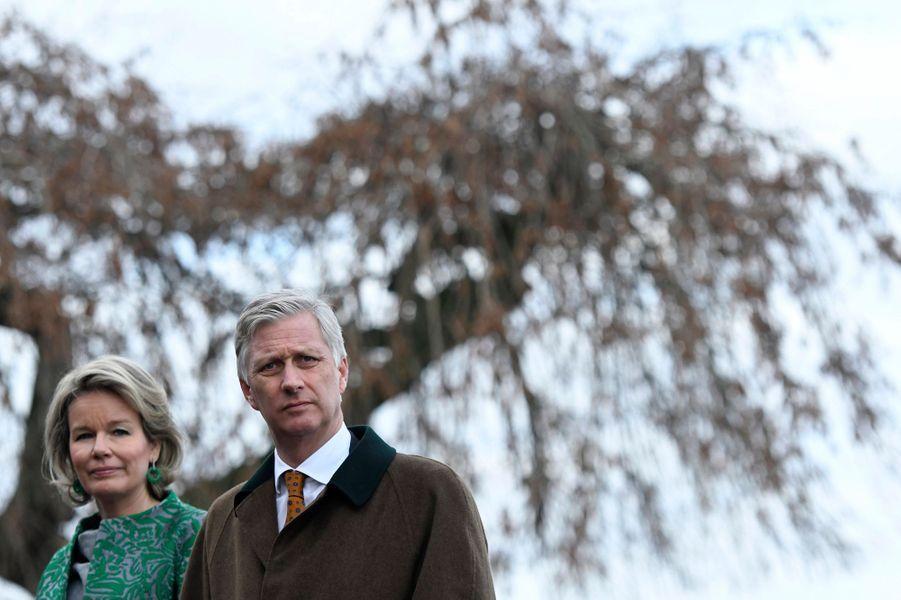 La reine Mathilde et le roi des Belges Philippe à Piétrebais, le 11 décembre 2018