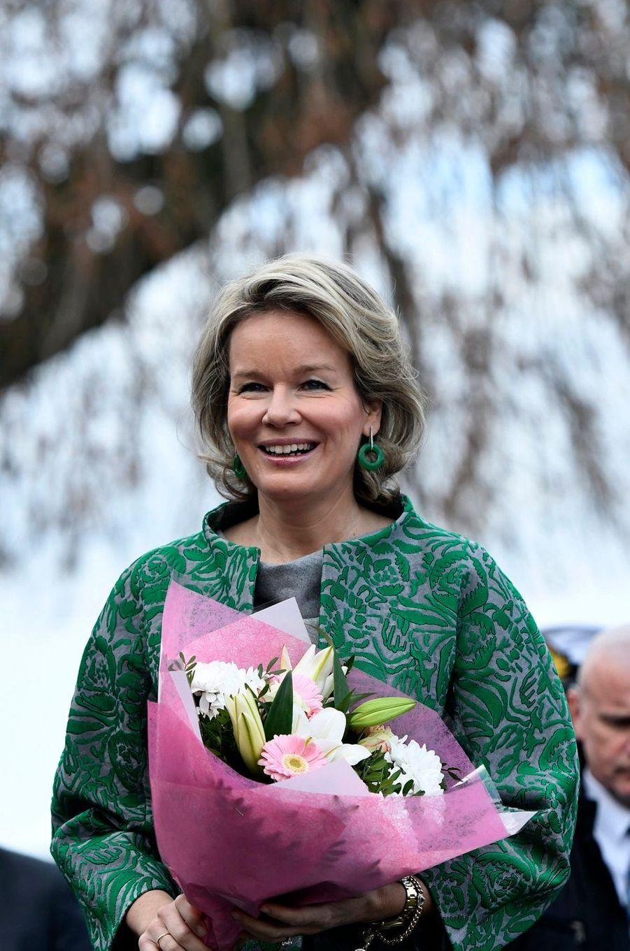 La reine Mathilde de Belgique à Piétrebais, le 11 décembre 2018