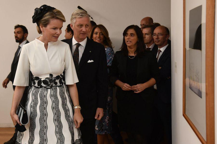 La reine Mathilde et le roi des Belges Philippe au musée Serralves à Porto, le 24 octobre 2018