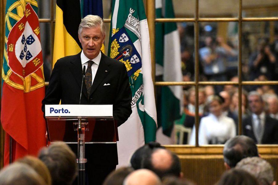 Le roi des Belges Philippe à l'Hôtel de ville de Porto, le 24 octobre 2018