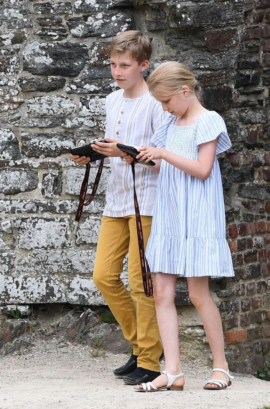 Le prince Emmanuel et la princesse Eléonore de Belgique à Villers-la-Ville, le 24 juin 2018