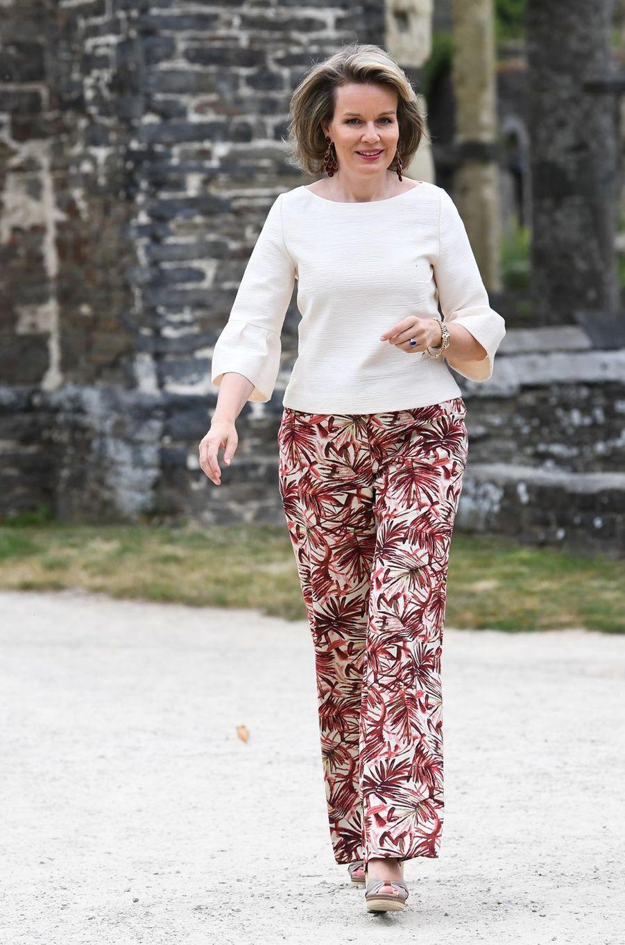 La reine Mathilde de Belgique à Villers-la-Ville, le 24 juin 2018