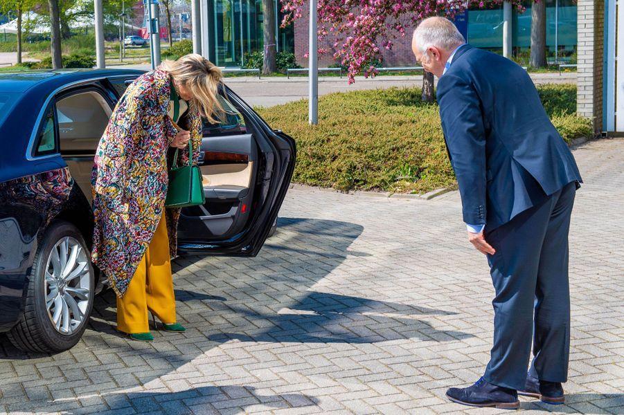 La reine Maxima des Pays-Bas à Enschede, le 16 avril 2020