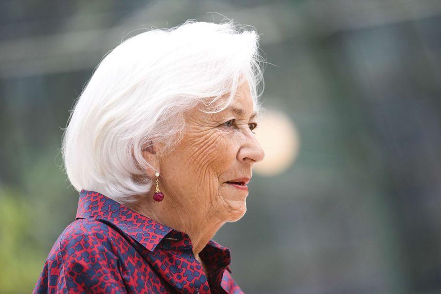 L'ex-reine des Belges Paola à Bruxelles, le 31 mai 2017