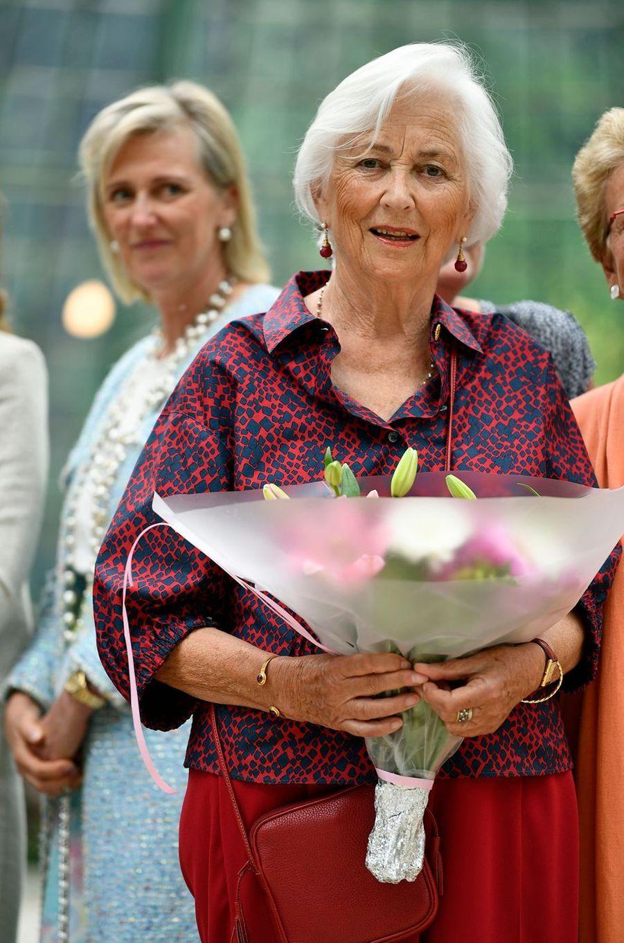 L'ex-reine des Belges Paola et sa fille la princesse Astrid de Belgique à Bruxelles, le 31 mai 2017