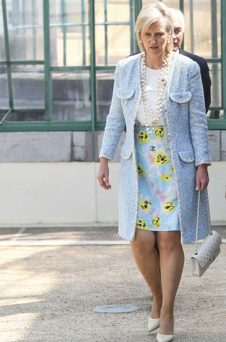 La princesse Astrid de Belgique, soeur du roi des Belges Philippe, à Bruxelles le 31 mai 2017
