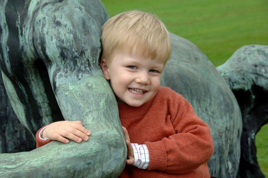 Le prince Gabriel de Belgique, le 4 octobre 2010