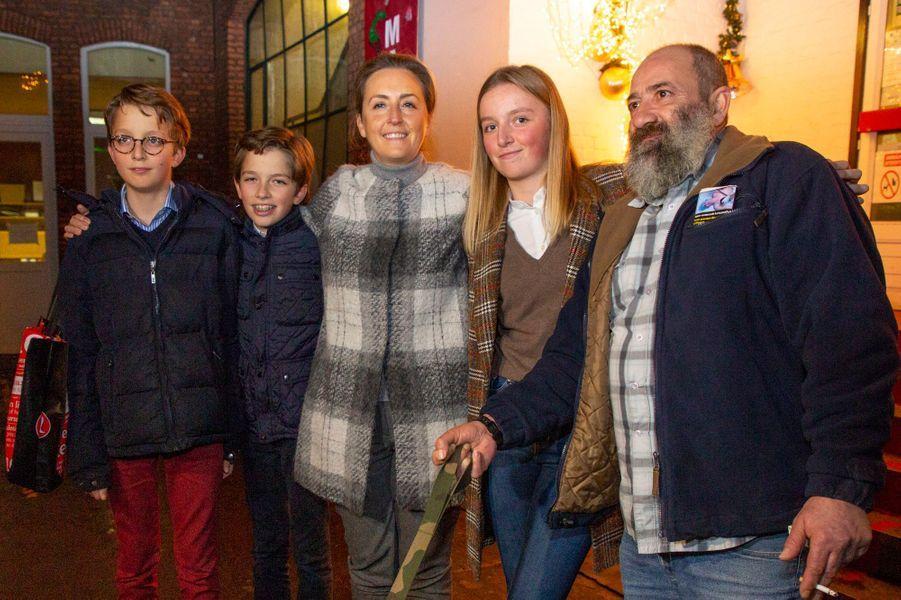 La princesse Claire de Belgique et ses enfants à Bruxelles, le 21 décembre 2018