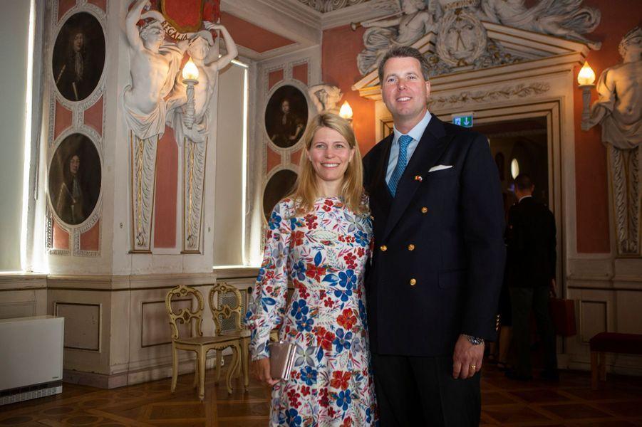 Le prince Hubertus de Saxe-Cobourg et Gotha et sa femme Kelly, à Gotha le 9 juillet 2019