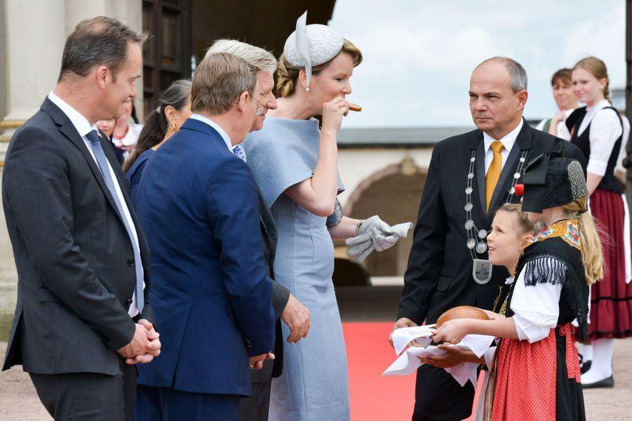 La reine Mathilde et le roi des Belges Philippe à Gotha, le 9 juillet 2019