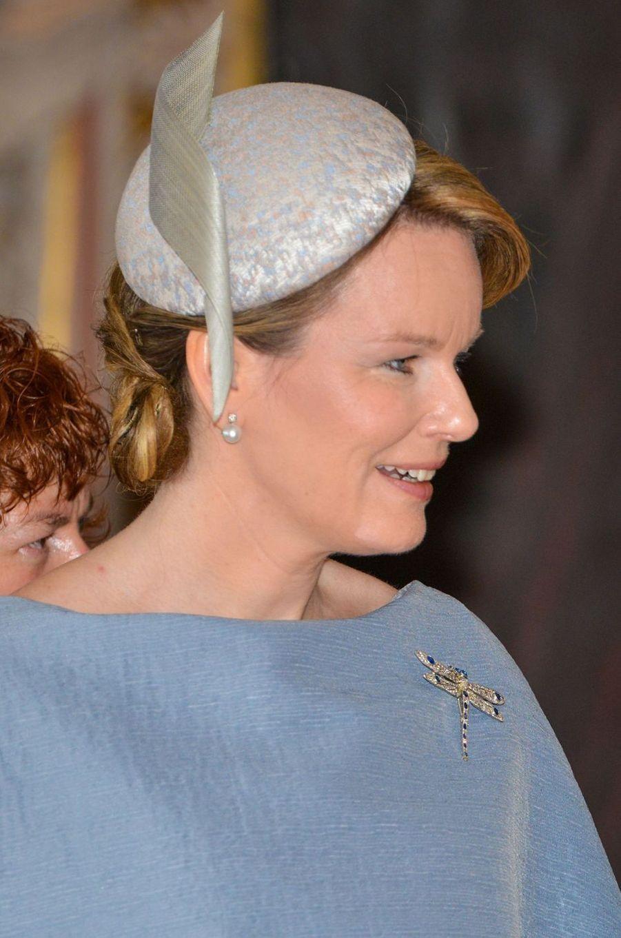 La reine Mathilde de Belgique à Gotha, le 9 juillet 2019