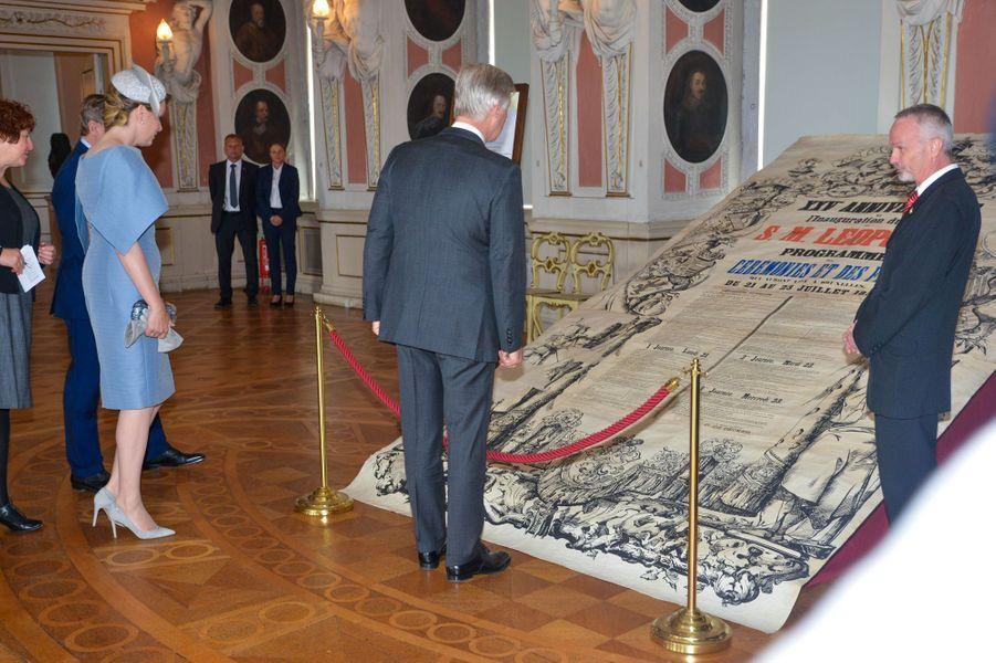 La reine Mathilde et le roi des Belges Philippe visitent le château de Friedenstein à Gotha, le 9 juillet 2019