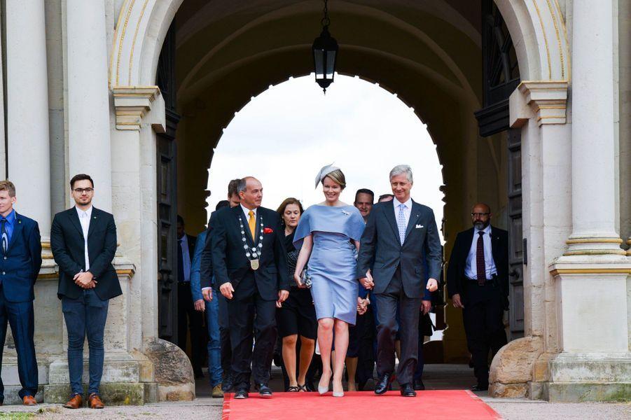 Le roi des Belges Philippe et la reine Mathilde au château de Friedenstein à Gotha, le 9 juillet 2019