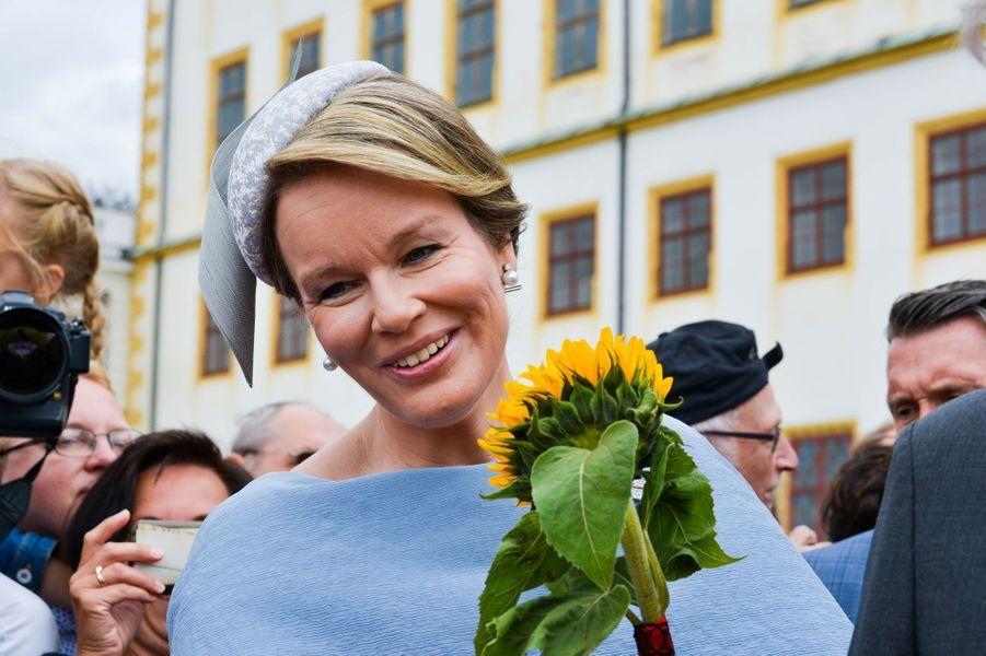 La reine des Belges Mathilde au château de Friedenstein à Gotha, le 9 juillet 2019
