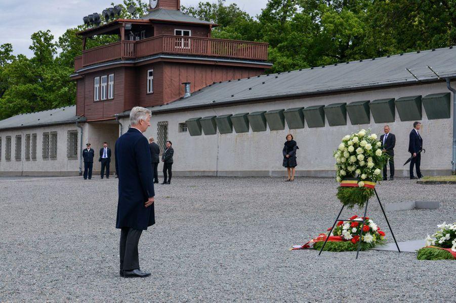 Le roi des Belges Philippe dans le camp de Buchenwald, le 9 juillet 2019