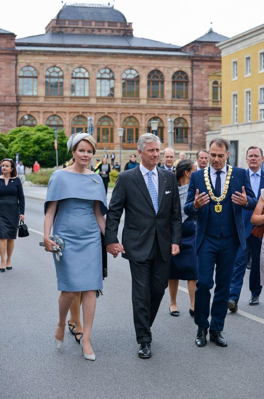 La reine Mathilde et le roi des Belges Philippe à Weimar, le 9 juillet 2019