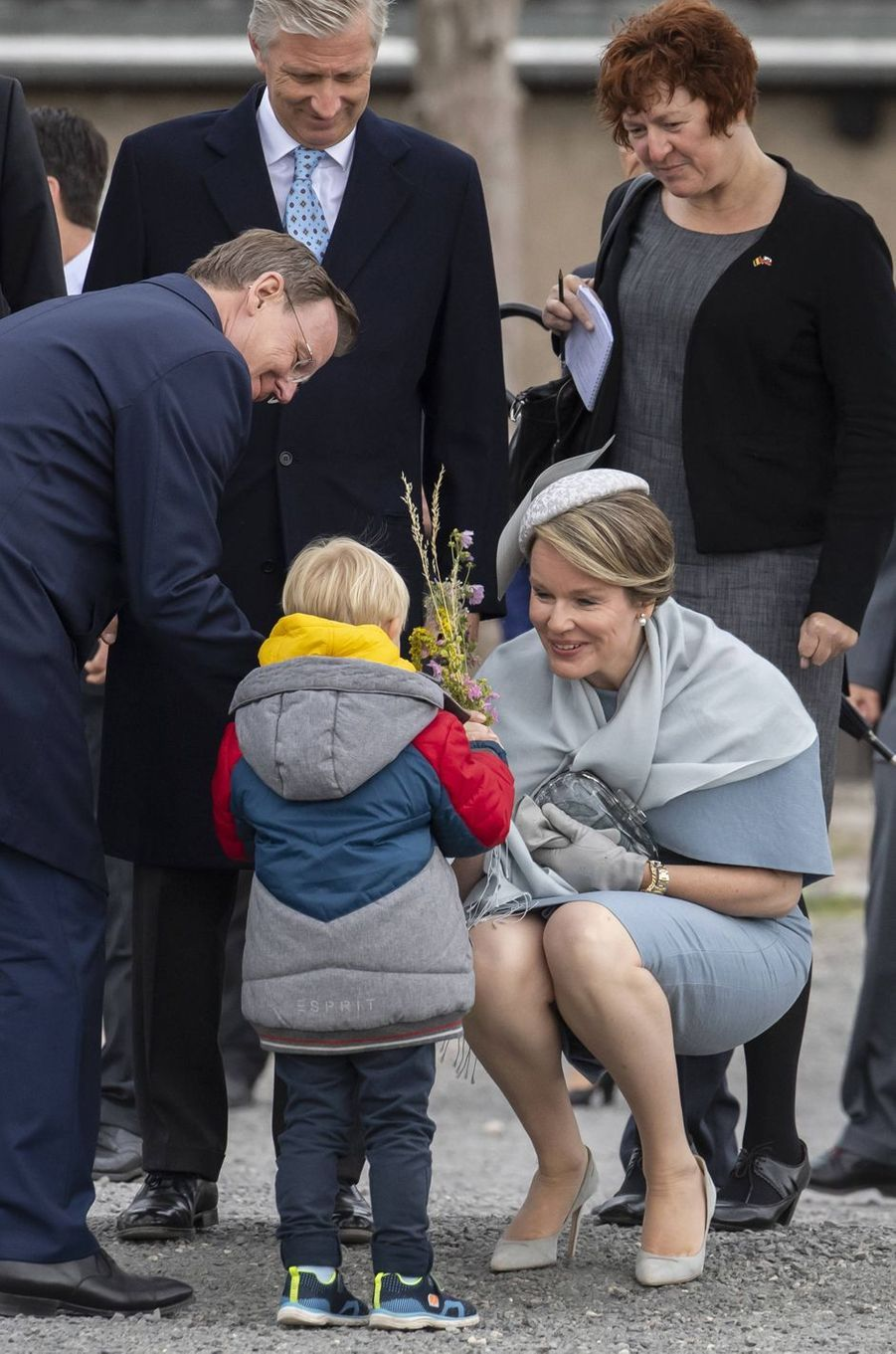 La reine Mathilde et le roi des Belges Philippe à Buchenwald, le 9 juillet 2019