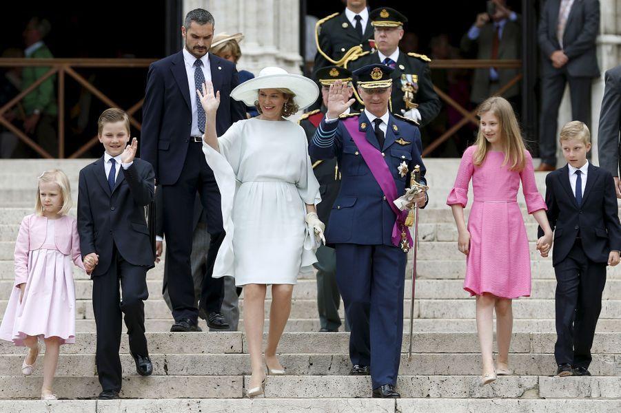 La famille royale fête les Belges et leur nation