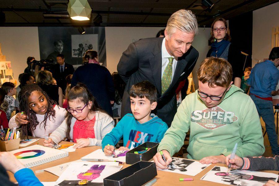 Le roi Philippe de Belgique à Bruxelles, le 27 avril 2017