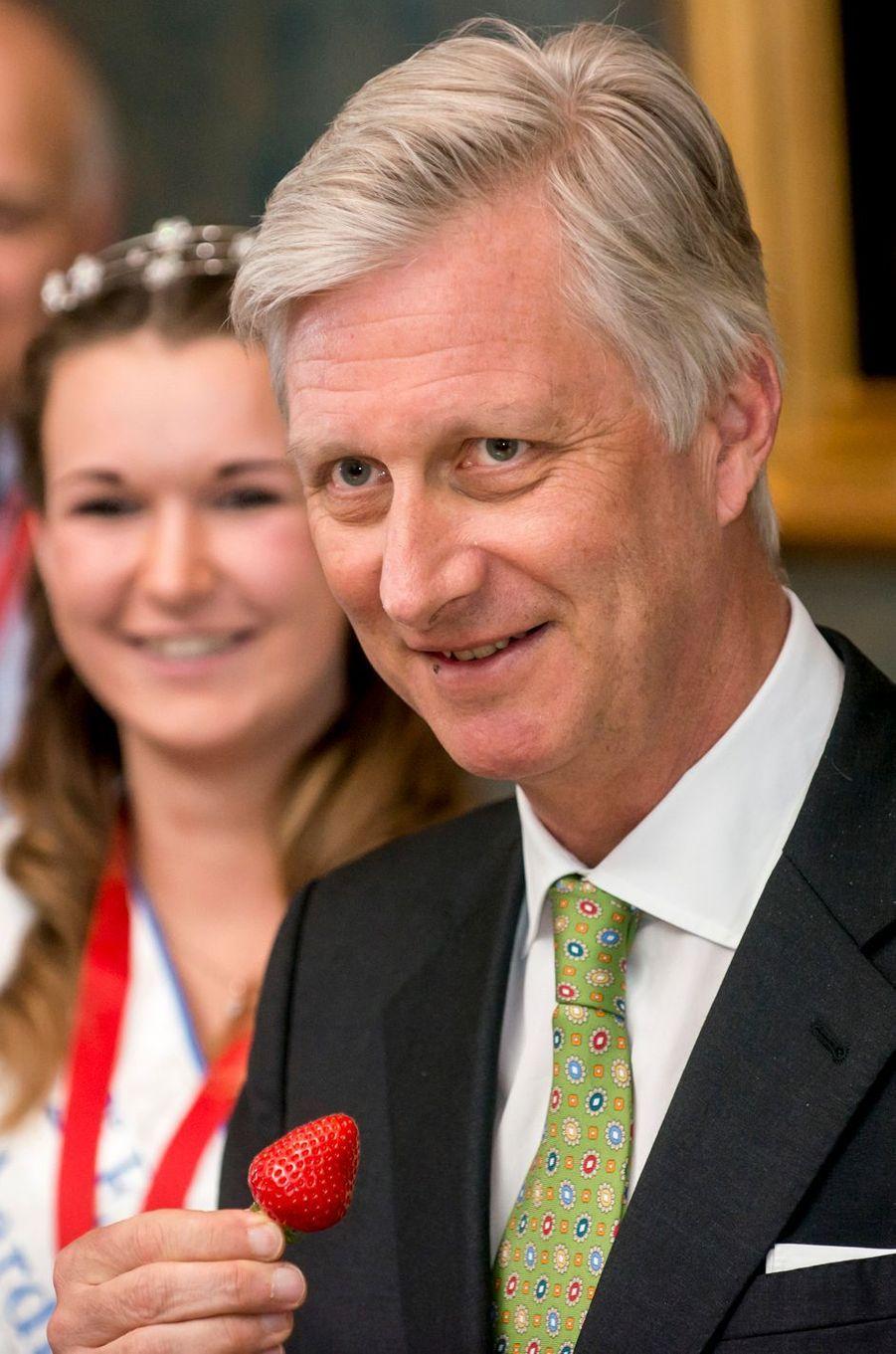 Le roi des Belges Philippe à Bruxelles, le 27 avril 2017