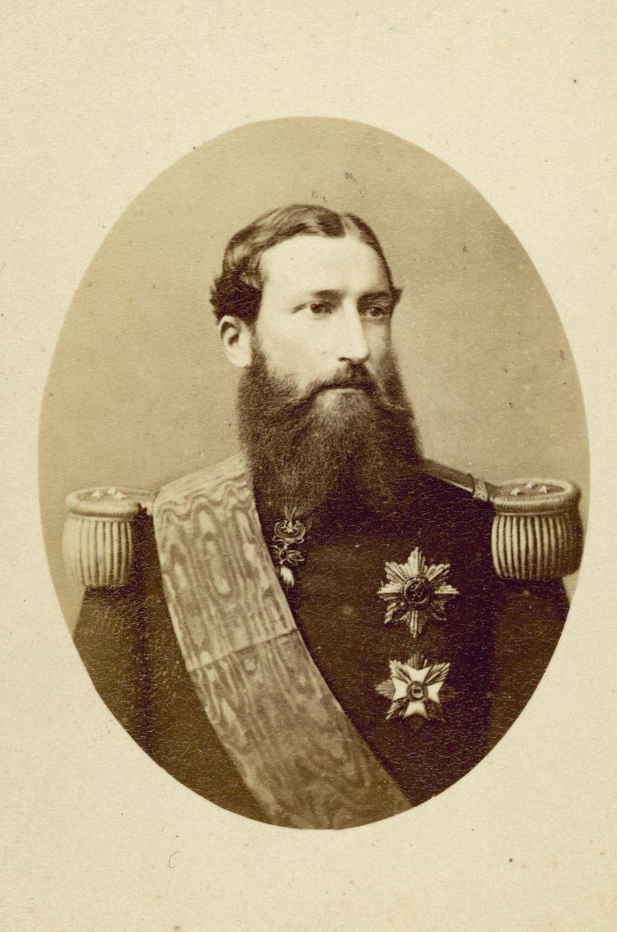Portrait photographique du roi Léopold II de Belgique