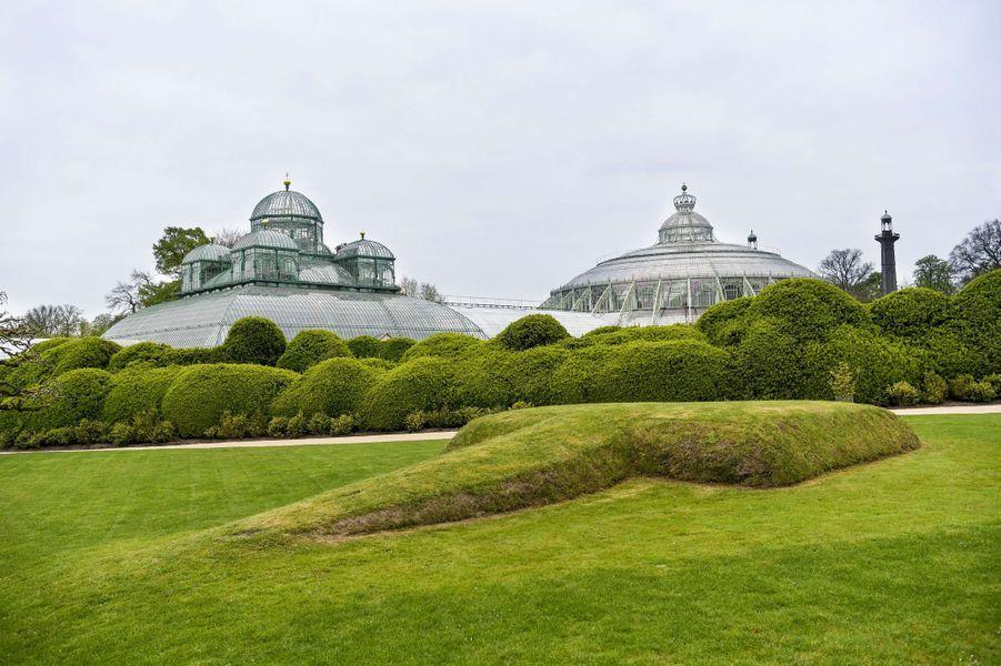 Les serres royales de Laeken à Bruxelles, le 17 avril 2015