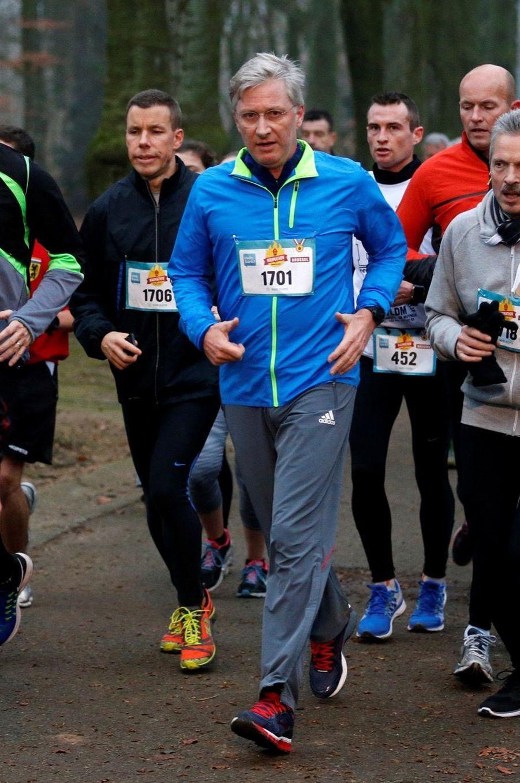 Le Roi Des Belges Philippe Participe À Un Marathon Avec Ses Enfants Le Prince Emmanuel, Le Prince Gabriel, La Princesse Éléonore 6