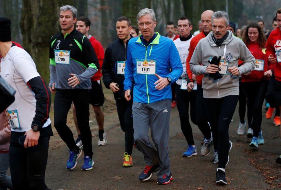 Le Roi Des Belges Philippe Participe À Un Marathon Avec Ses Enfants Le Prince Emmanuel, Le Prince Gabriel, La Princesse Éléonore 9