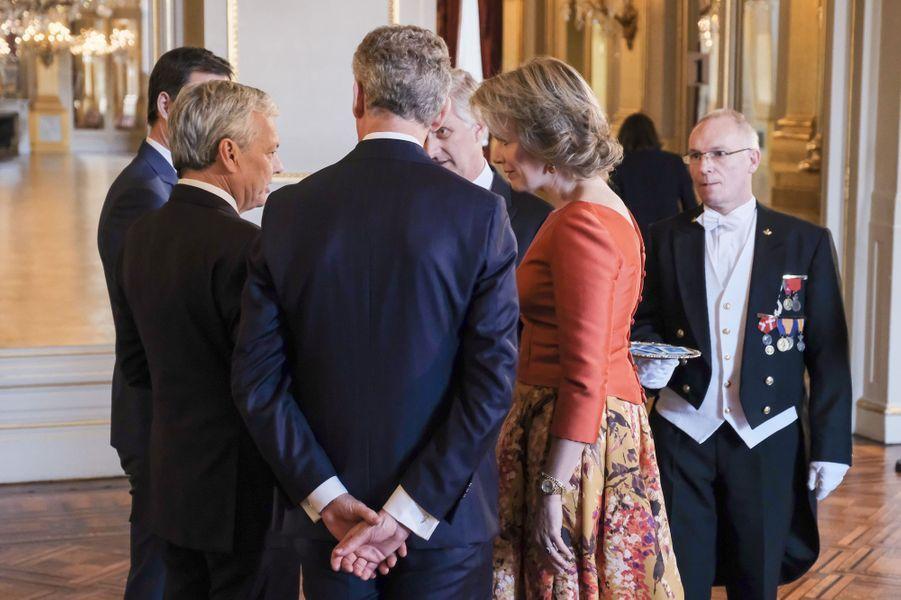 La reine Mathilde et le roi Philippe de Belgique à Bruxelles, le 12 janvier 2017