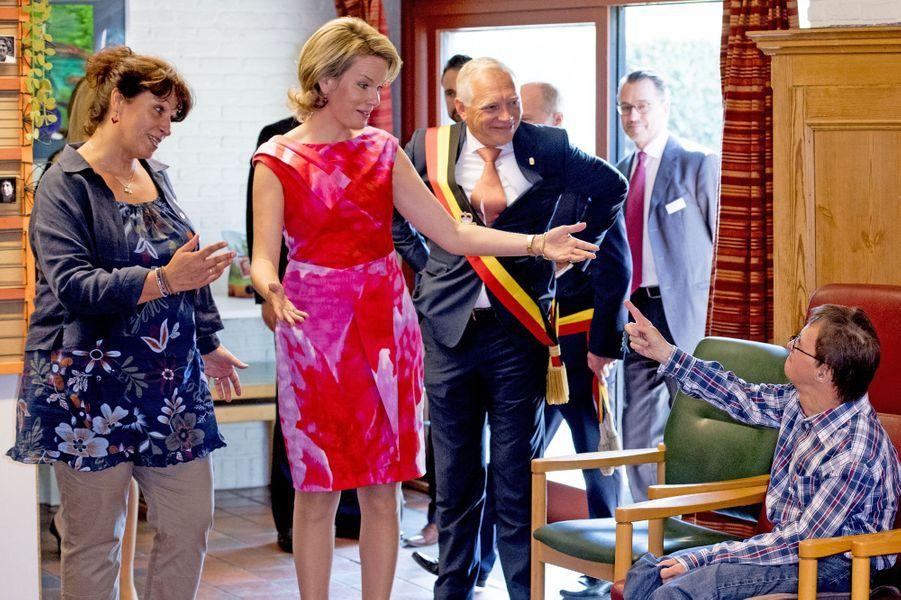 La reine Mathilde de Belgique à Louvain-la-Neuve, le 15 septembre 2016