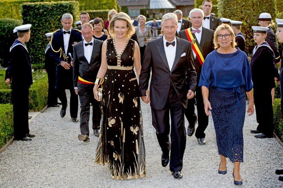La reine Mathilde et le roi Philippe de Belgique à Jabbeke, le 15 septembre 2016
