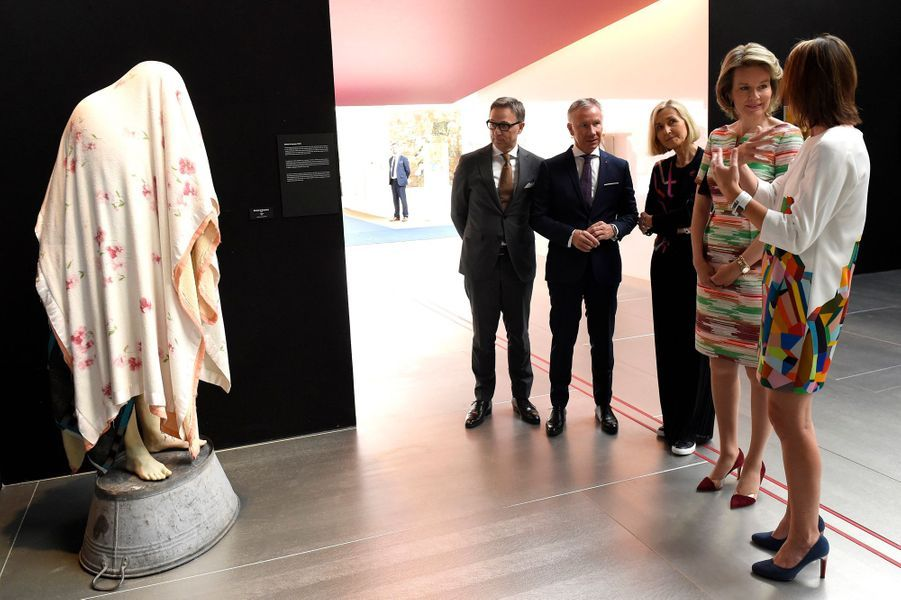 La reine des Belges Mathilde à Bruxelles, le 19 avril 2018