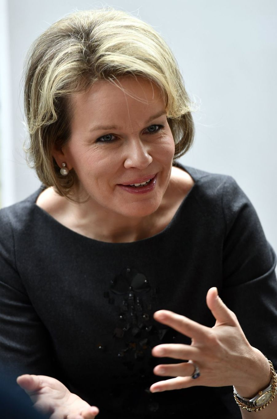 La reine Mathilde de Belgique à Etterbeek, le 2 février 2017
