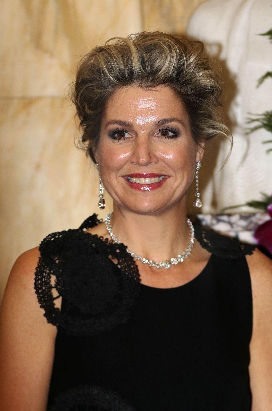 La reine Maxima des Pays-Bas à Bruxelles, le 25 mai 2016