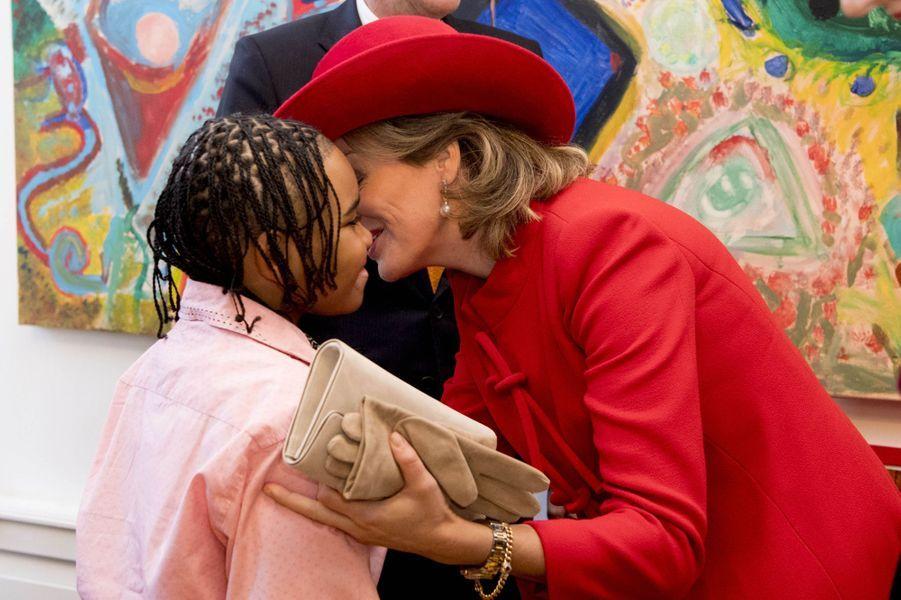 La reine Mathilde de Belgique à La Haye, le 29 novembre 2016