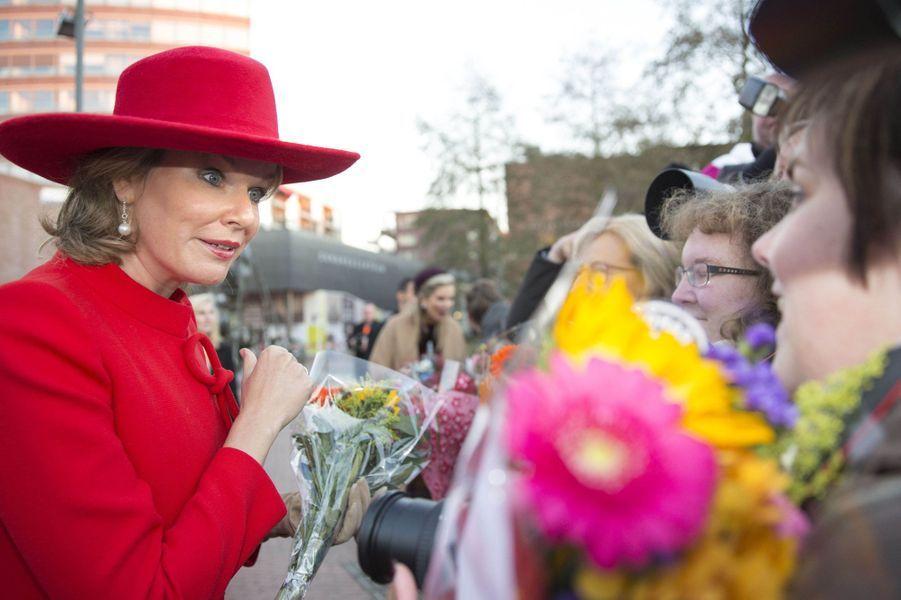 La reine Mathilde de Belgique à Amstelveen, le 29 novembre 2016