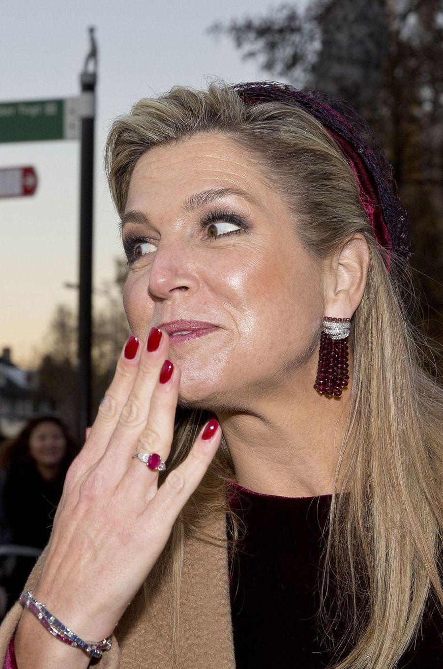 La reine Maxima des Pays-Bas à Amstelveen, le 29 novembre 2016