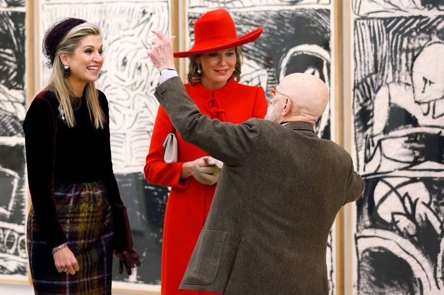 Les reines Maxima des Pays-Bas etMathilde de Belgique à Amstelveen, le 29 novembre 2016