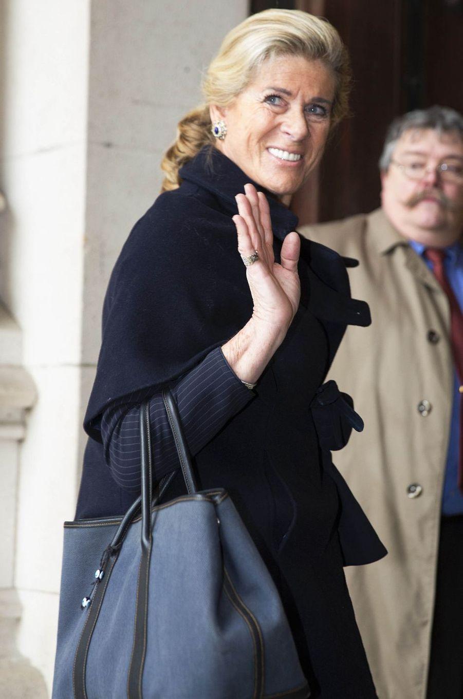 La princesse Lea de Belgique à Laeken, le 17 février 2017