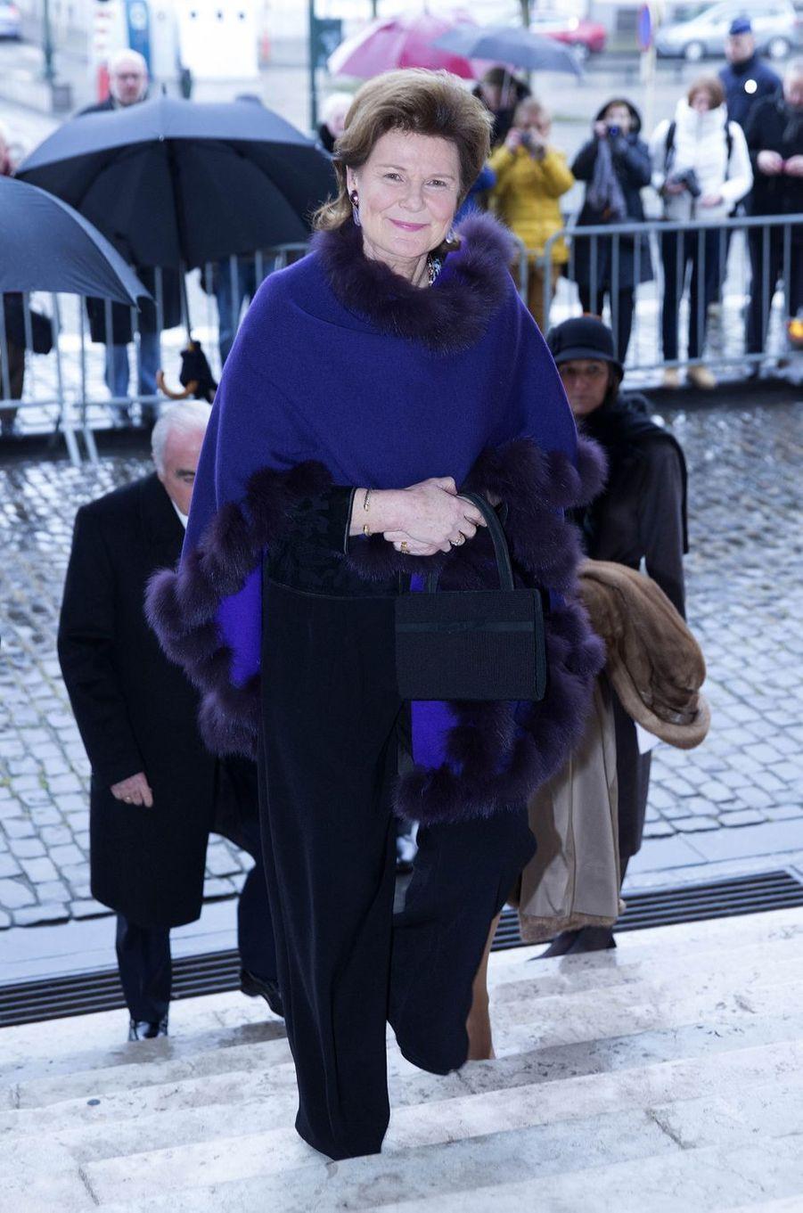La princesse Margaretha du Liechtenstein à Laeken, le 17 février 2017