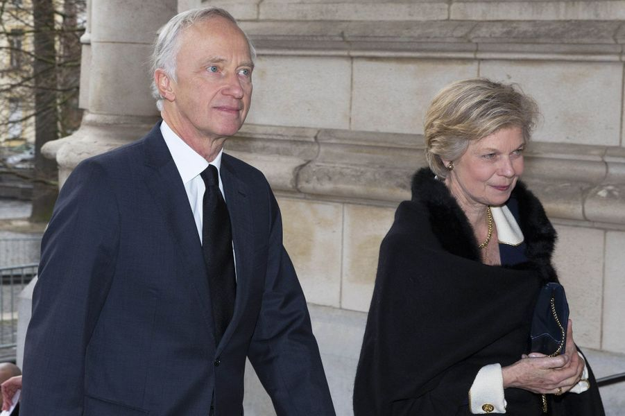 La princesse Marie-Astrid du Luxembourg et son mari à Laeken, le 17 février 2017