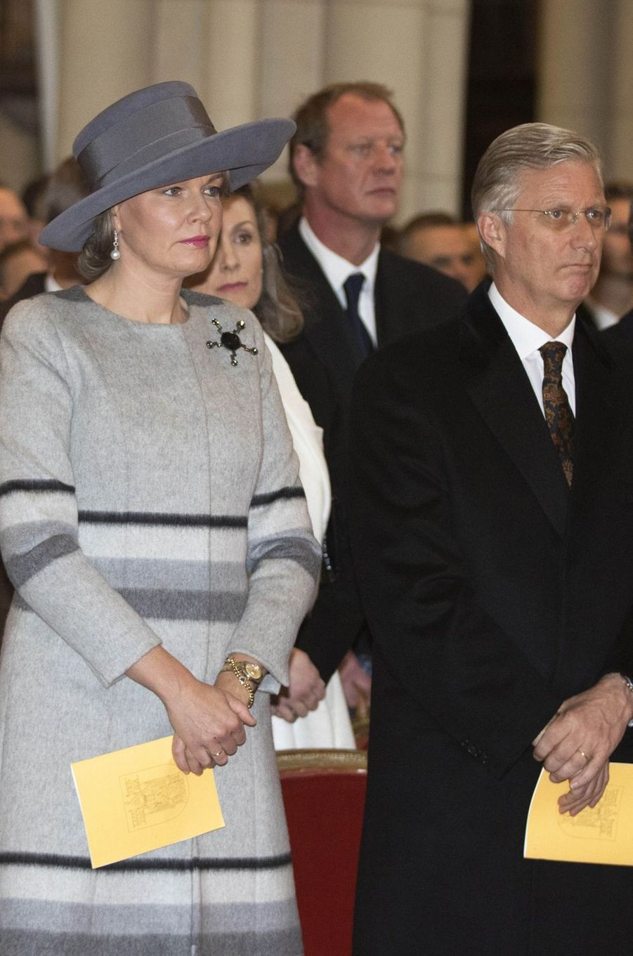 La reine Mathilde et le roi Philippe de Belgique à Laeken, le 17 février 2017