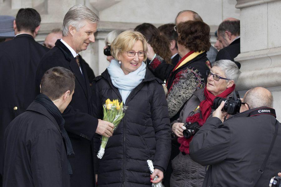 Le roi Philippe de Belgique à Laeken, le 17 février 2017