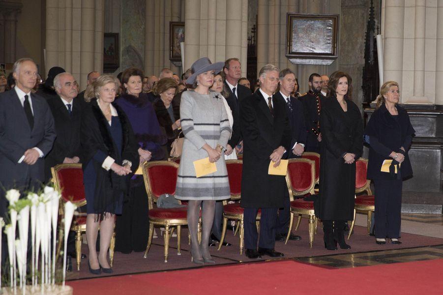 La famille royale belge à Laeken, le 17 février 2017