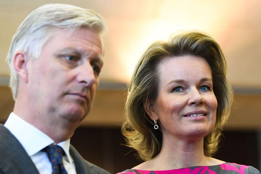 Le roi des Belges Philippe et la reine Mathilde à Saint Vith, le 27 février 2018