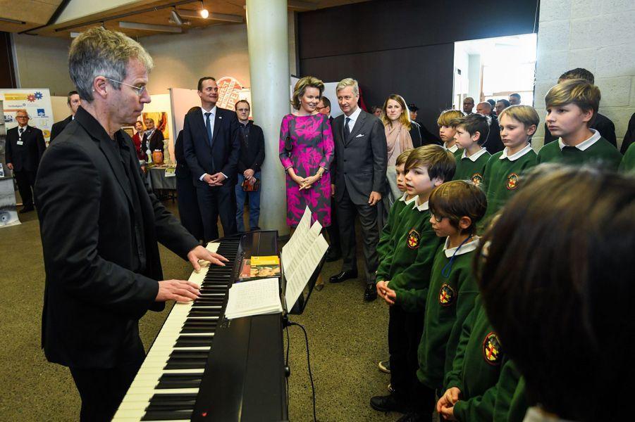 La reine Mathilde et le roi des Belges Philippe à Saint Vith, le 27 février 2018