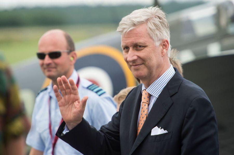 La roi Philippe de Belgique à Florennes, le 25 juin 2015
