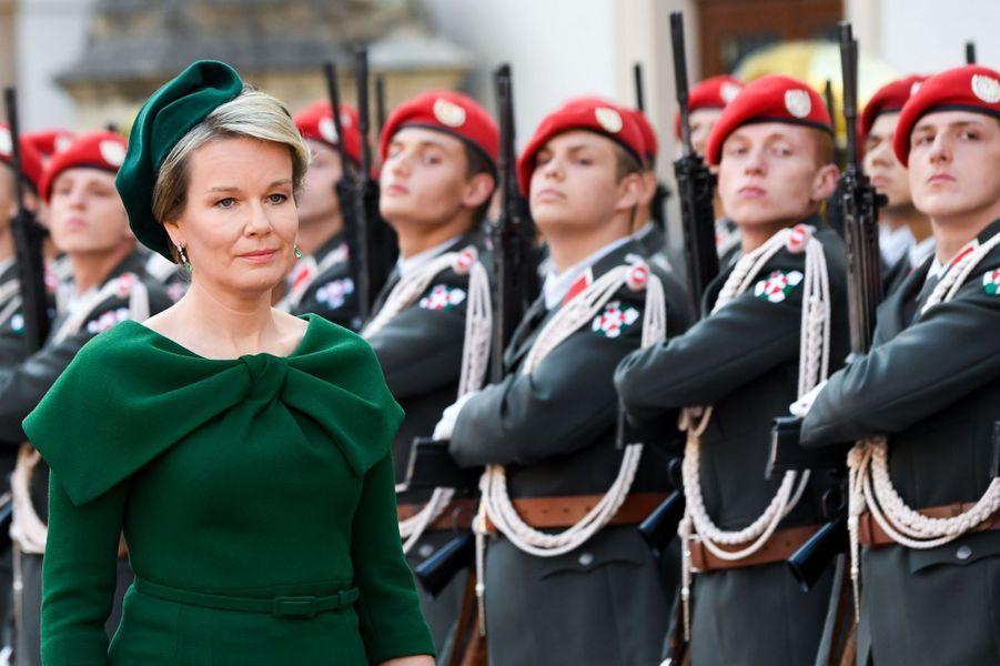 La reine Mathilde de Belgique à Vienne, le 1er octobre 2018