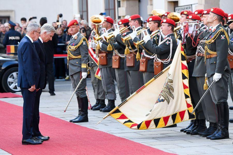 Le roi des Belges Philippe et le président autrichien à Vienne, le 1er octobre 2018