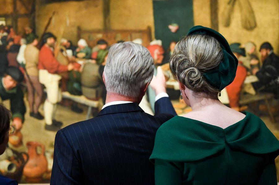 La reine Mathilde et le roi des Belges Philippe à Vienne, le 1er octobre 2018